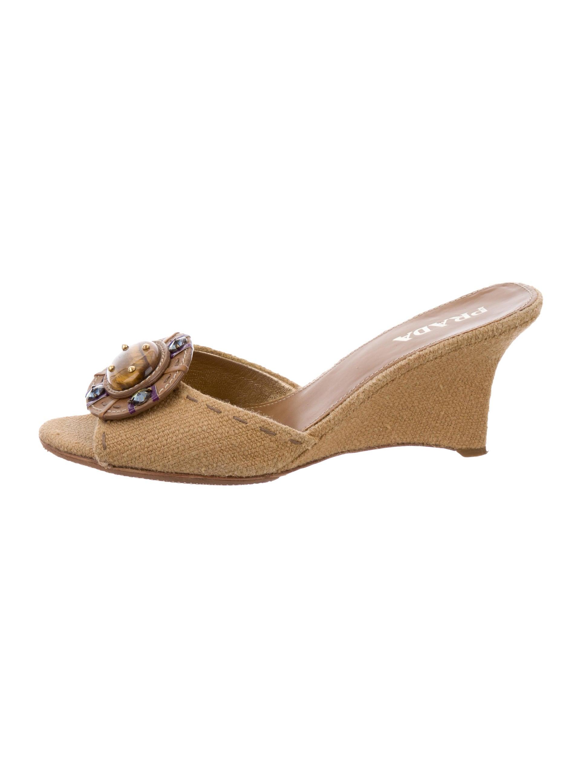 1534e1c642dc Prada Jewel-Embellished Slide Sandals - Shoes - PRA133219