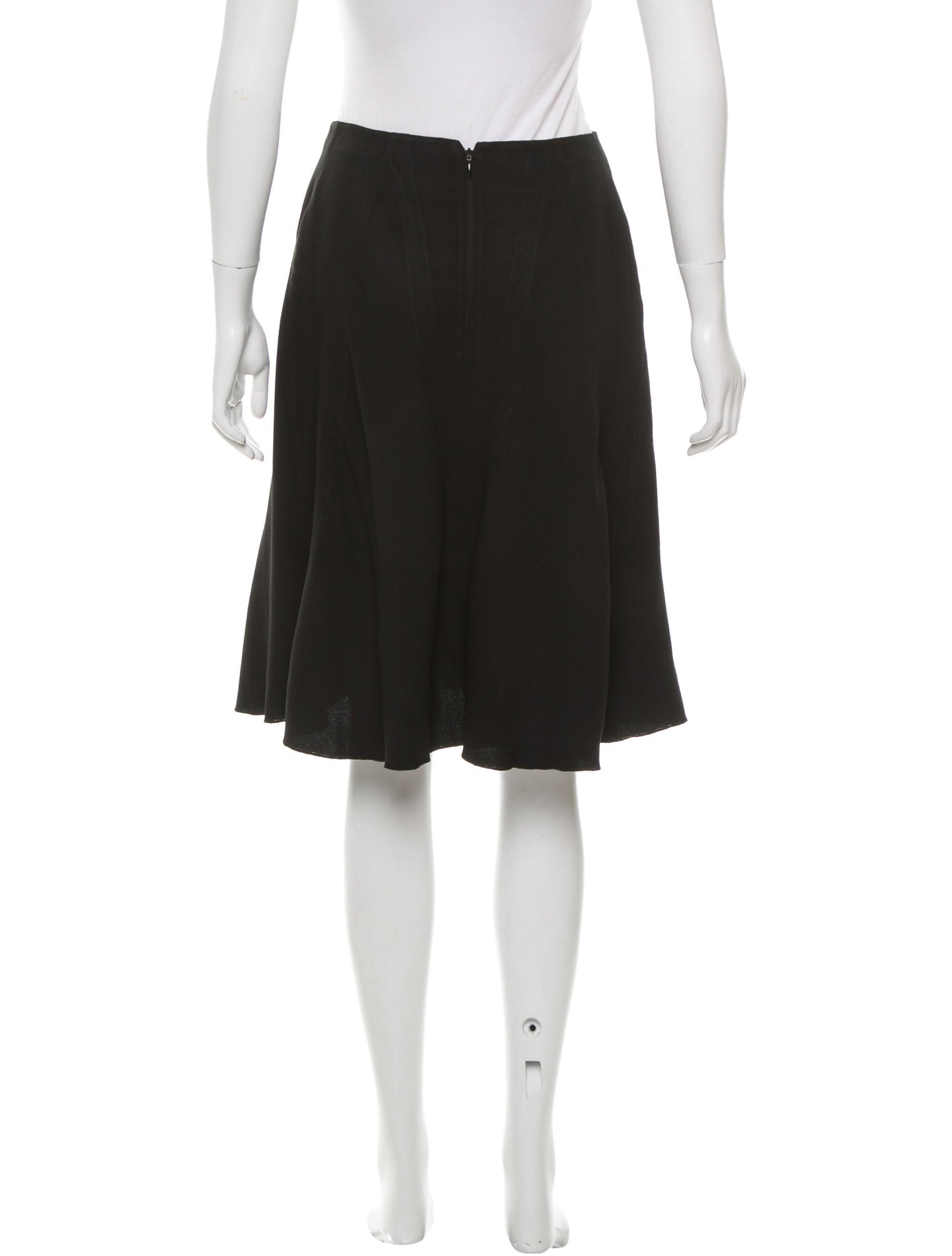 prada knee length a line skirt clothing pra133331