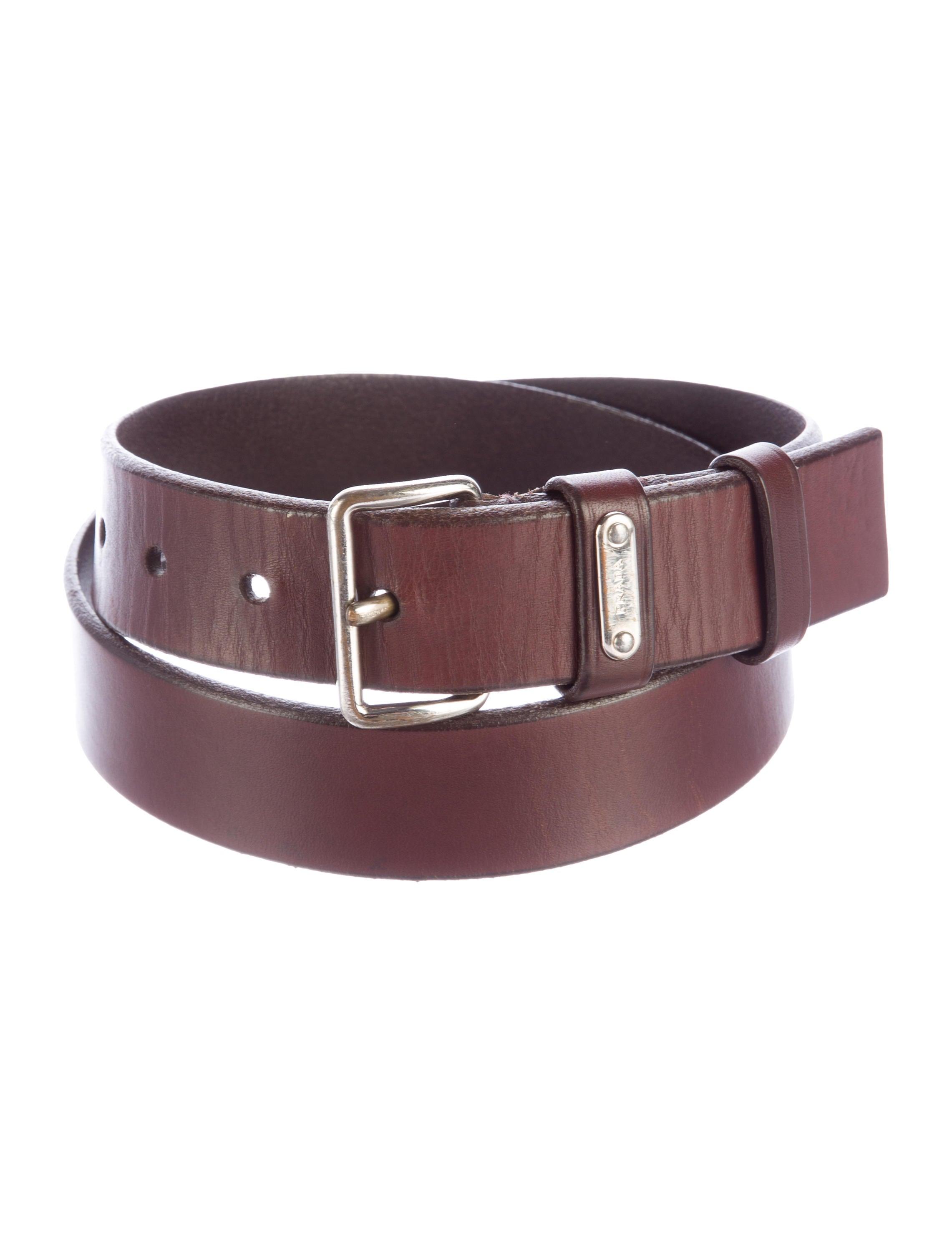 prada leather dress belt accessories pra133549 the