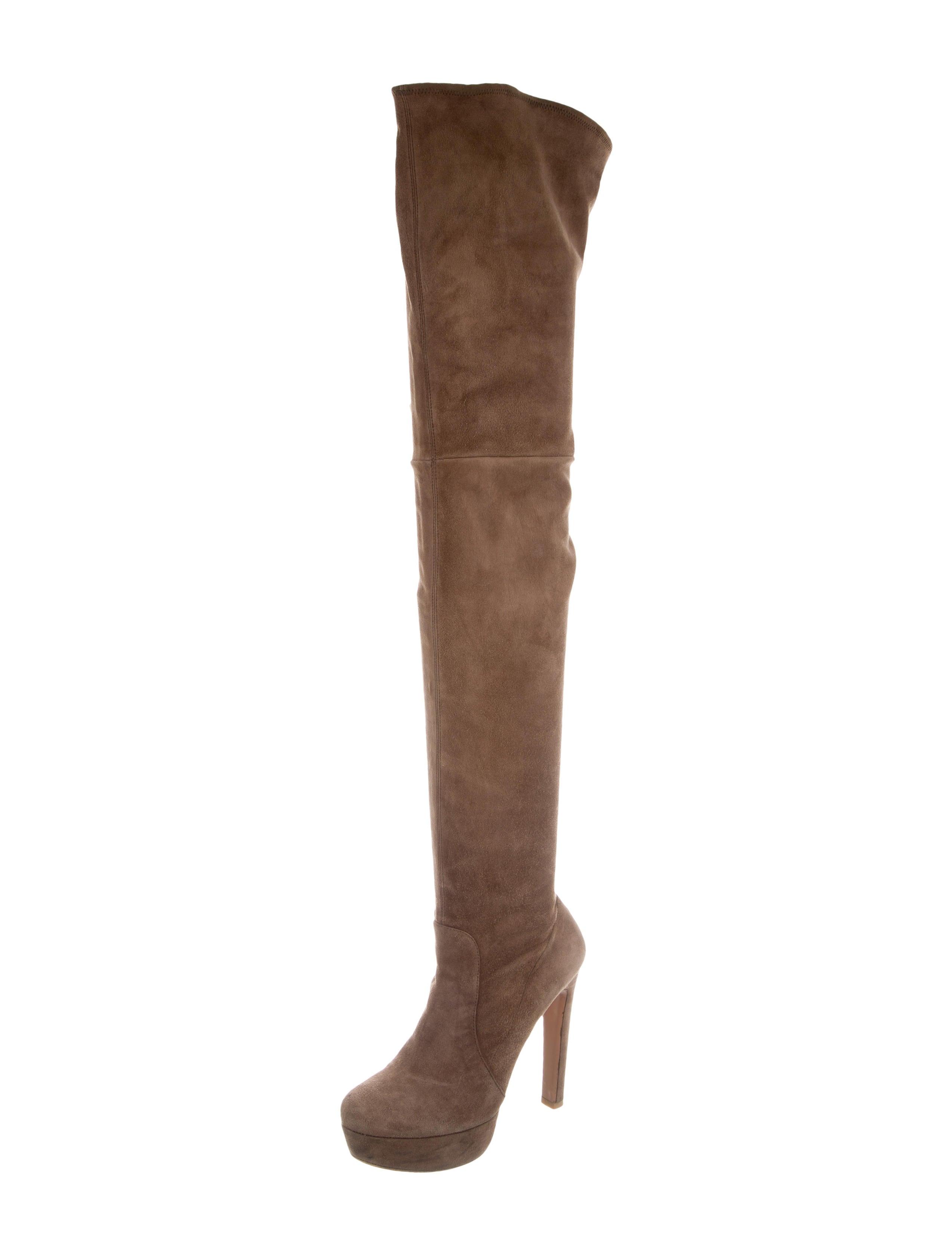 prada platform thigh high boots shoes pra133585 the