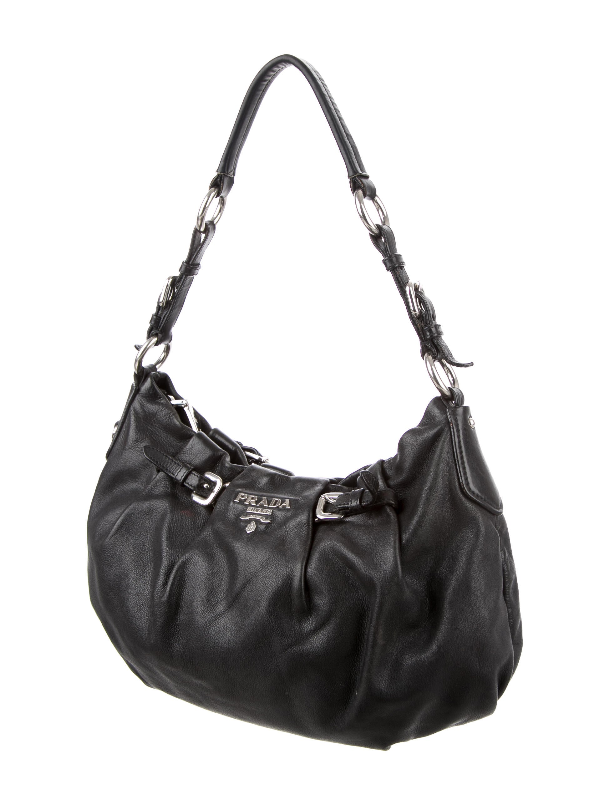 05839755af00 Prada Nappa Leather Shoulder Bag - Handbags - PRA133647   The RealReal