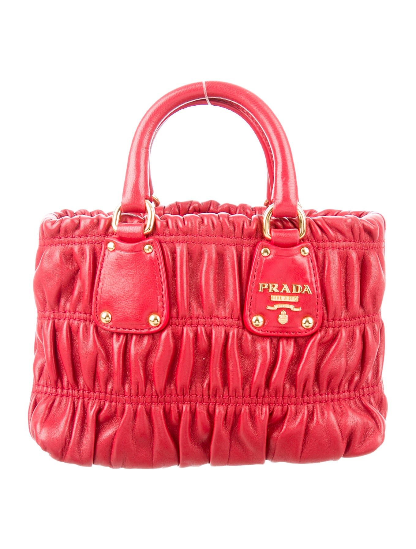 a1bd84f68d8e Prada Mini Nappa Gaufre Crossbody Bag - Handbags - PRA133942   The ...