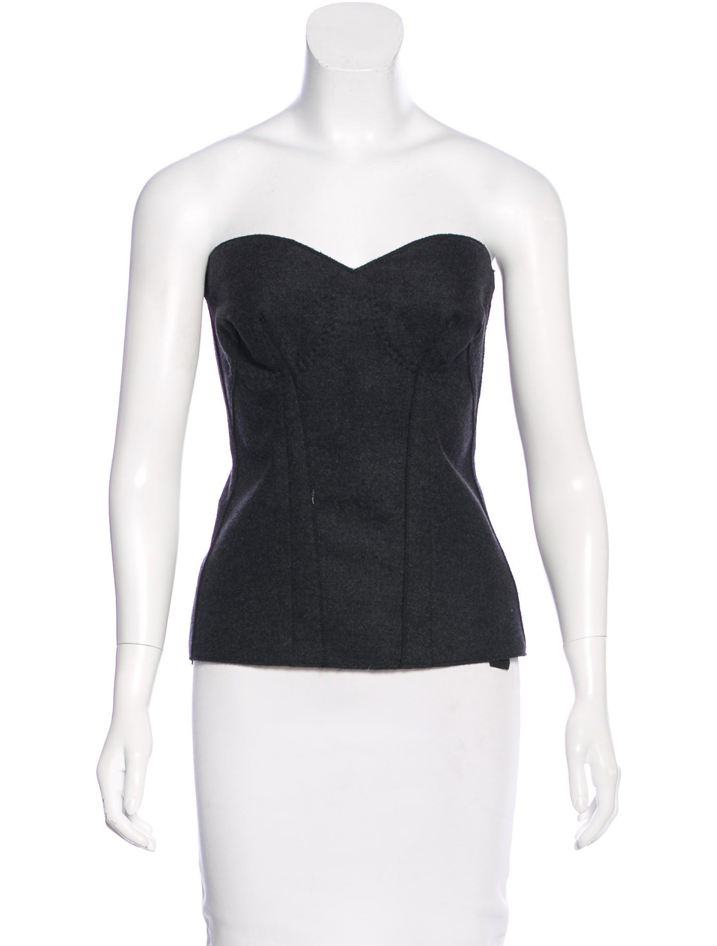Prada wool corset top clothing pra133975 the realreal for Best wool shirt jackets