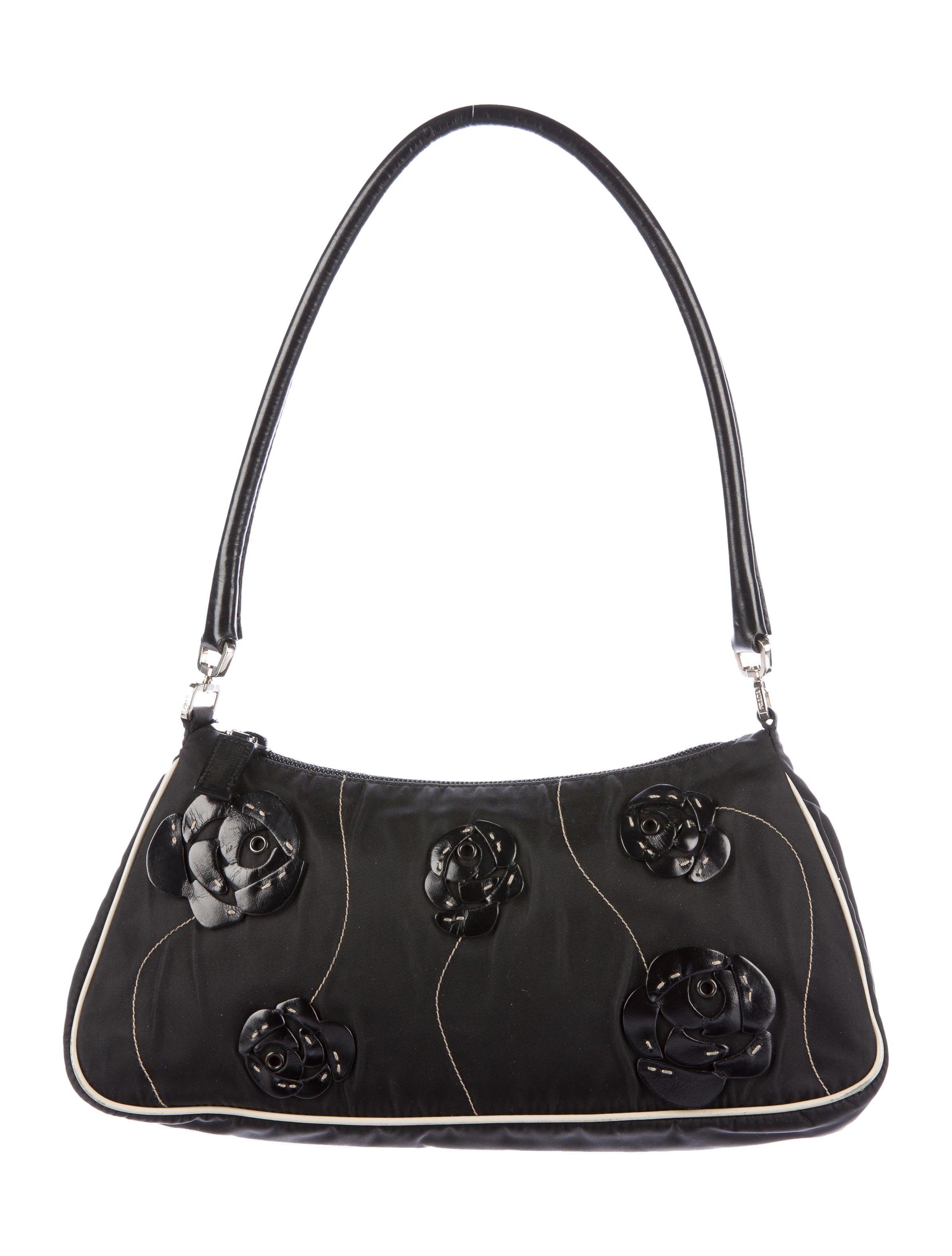 bbadd85ac5ac Prada Floral Tessuto Shoulder Bag - Handbags - PRA134014 | The RealReal