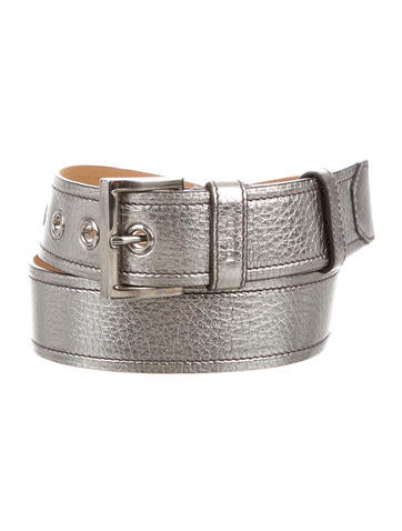 prada metallic leather belt accessories pra134415