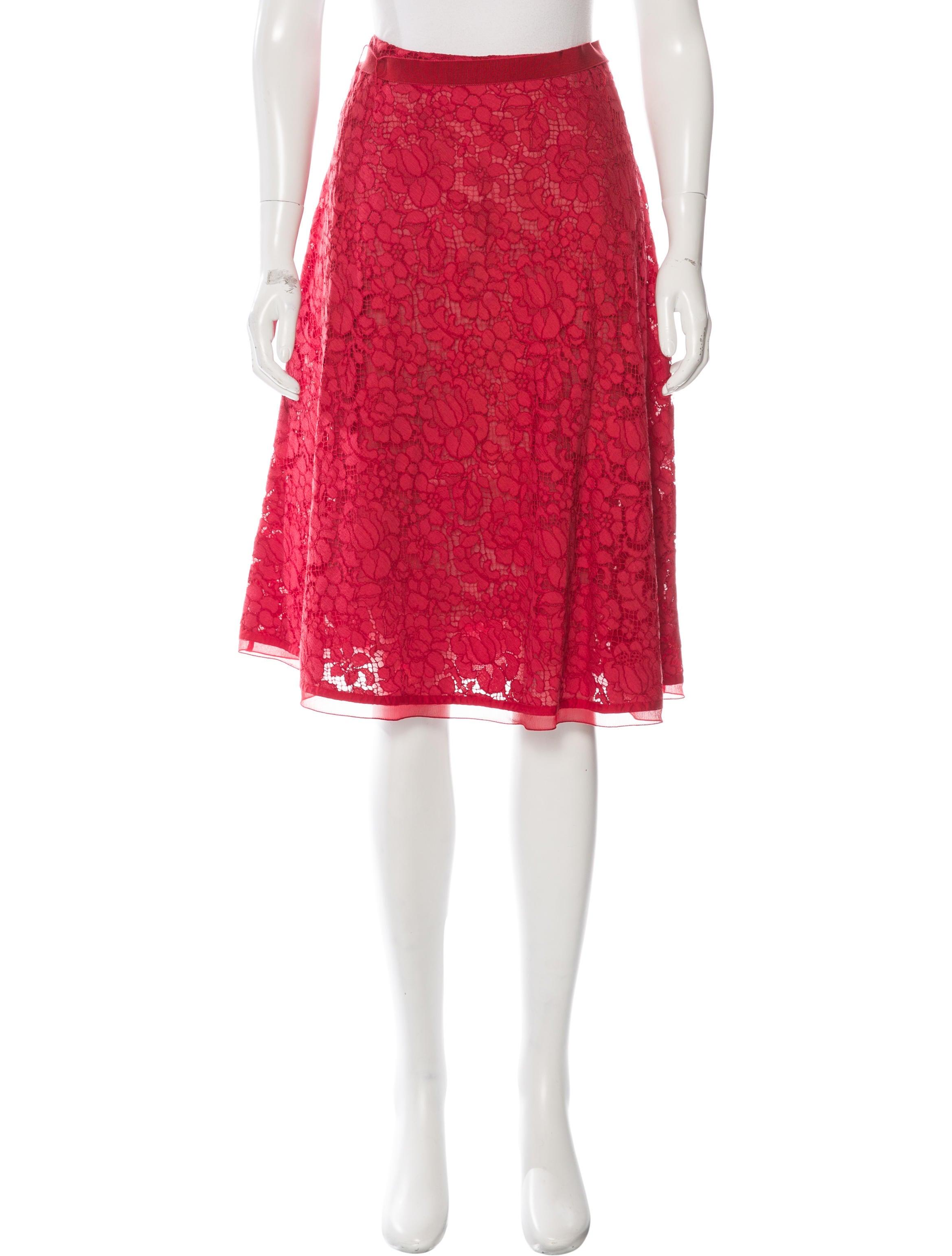 prada lace a line skirt clothing pra134449 the realreal