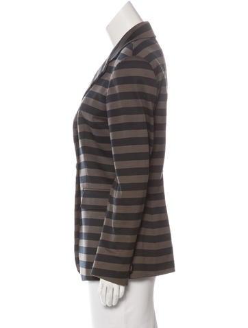 Structured Striped Blazer