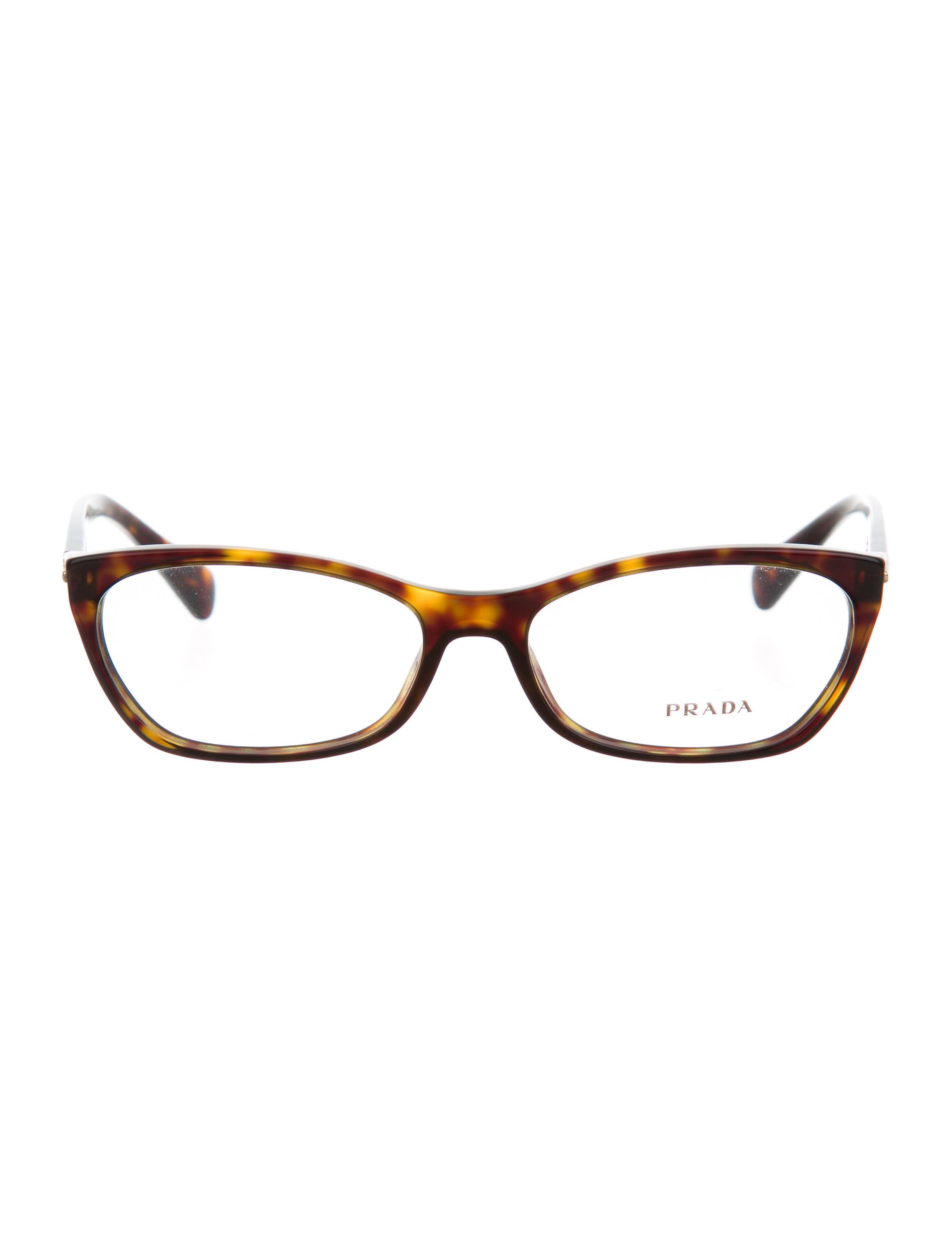 Prada Narrow Tortoiseshell Eyeglasses - Accessories ...