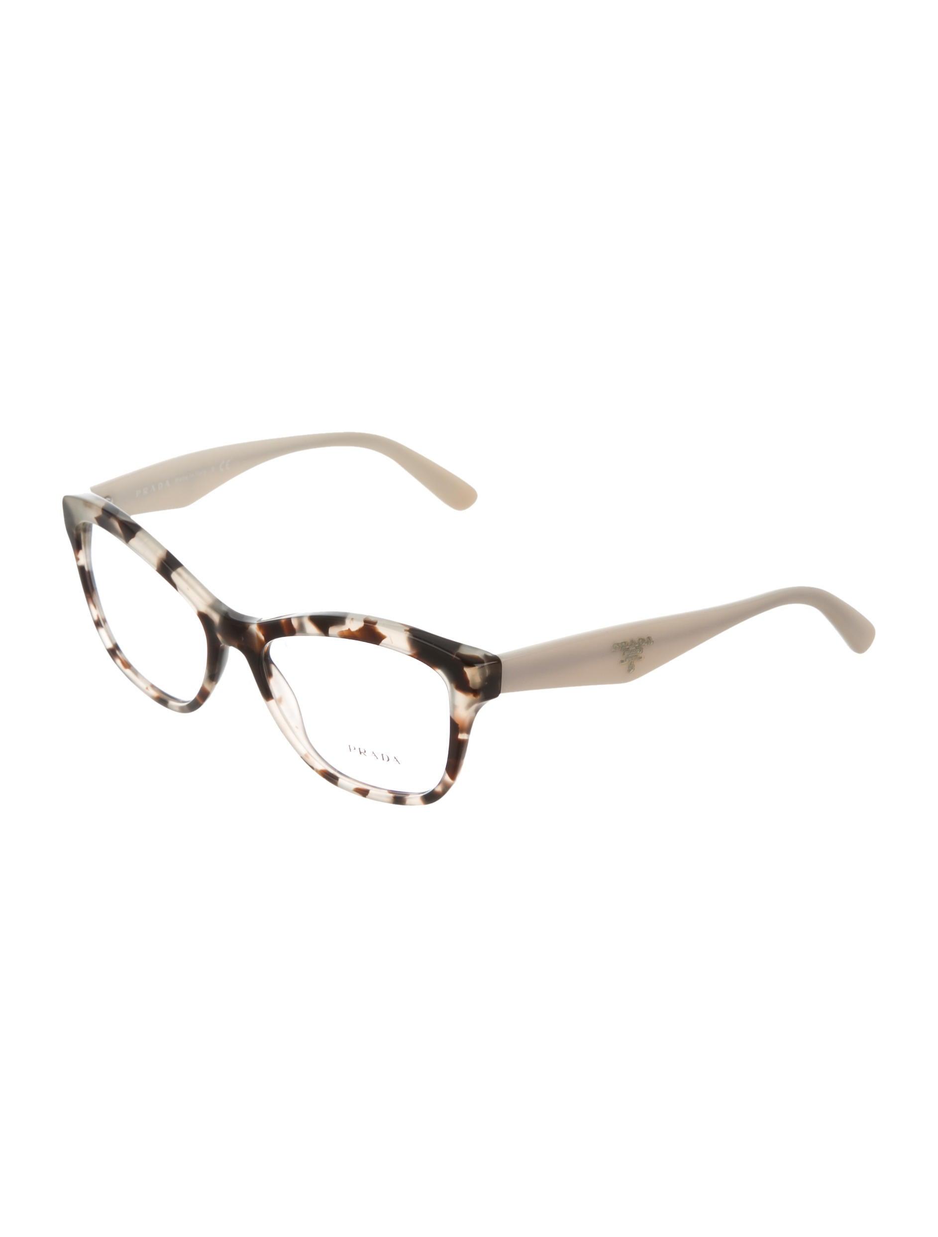 prada marbled cat eye eyeglasses accessories pra134813