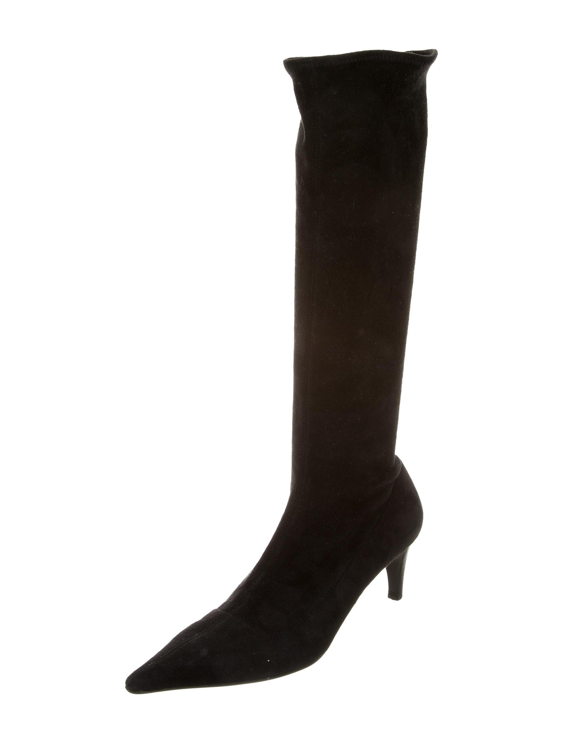 prada suede knee high boots shoes pra134939 the realreal