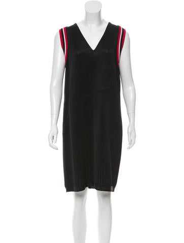 Prada Knit V-Neck Dress None