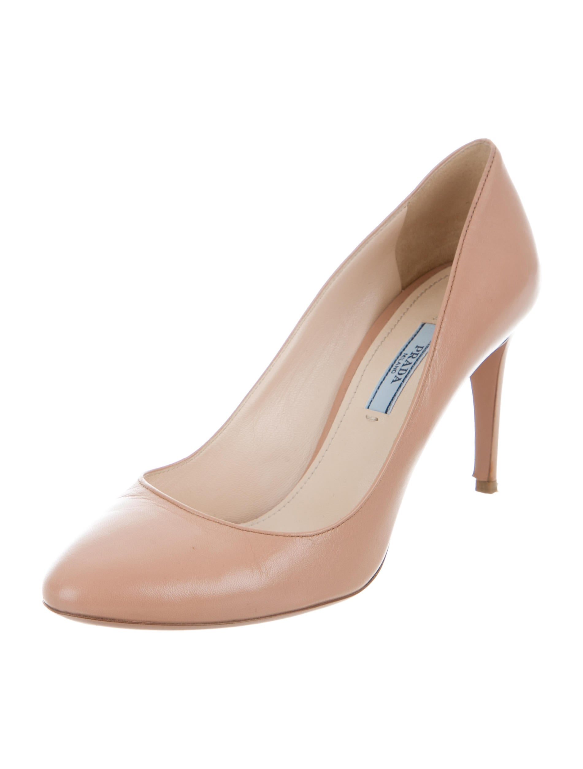 fast delivery Inexpensive for sale Prada Leather Round-Toe Pumps sale buy xVbmsUl