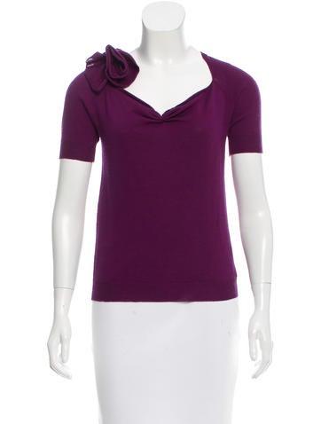 Prada Short Sleeve Knit Top None