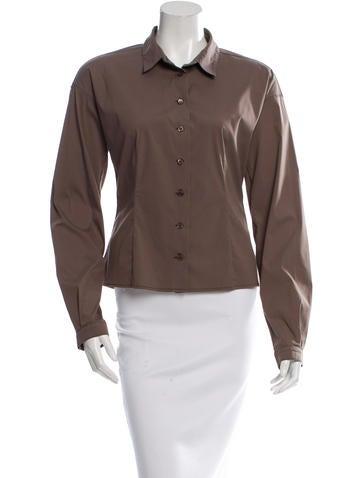 Prada Button-Up Long Sleeve Top None
