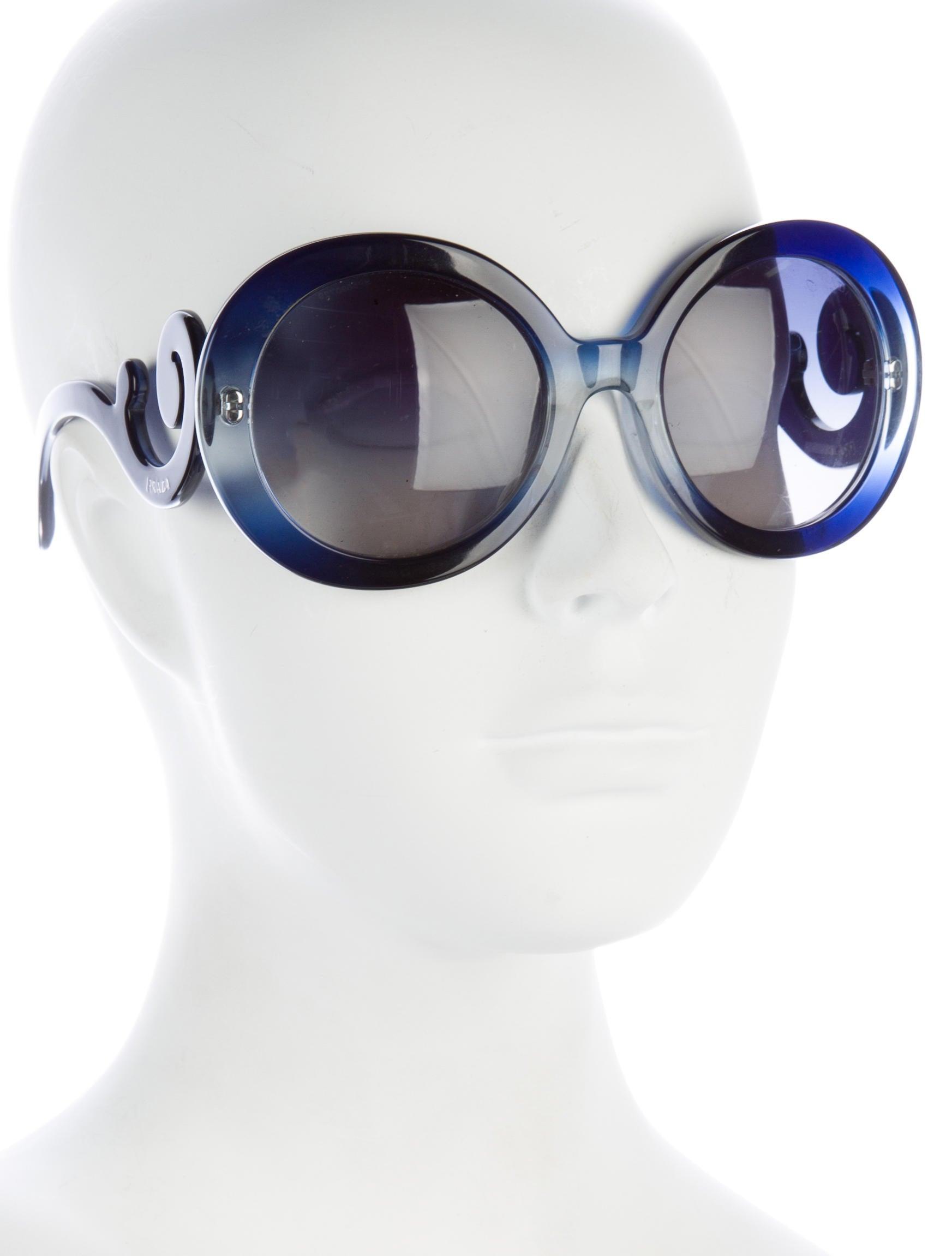 Prada Baroque Round Sunglasses - Accessories - PRA135724   The RealReal 05eb1705f1