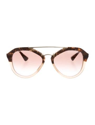 Prada Marble Clubmaster Sunglasses None