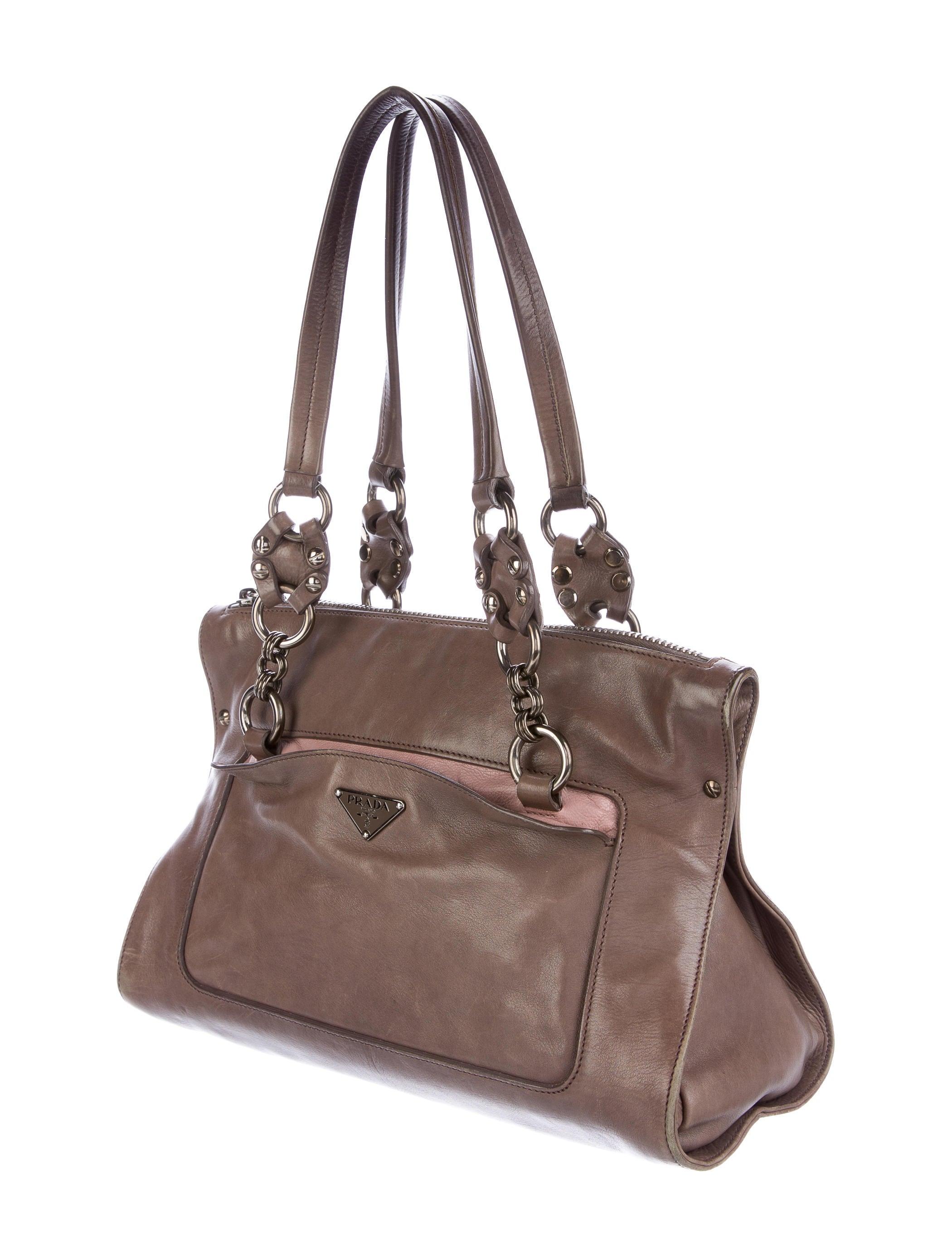 Prada calf screw shoulder bag handbags pra the