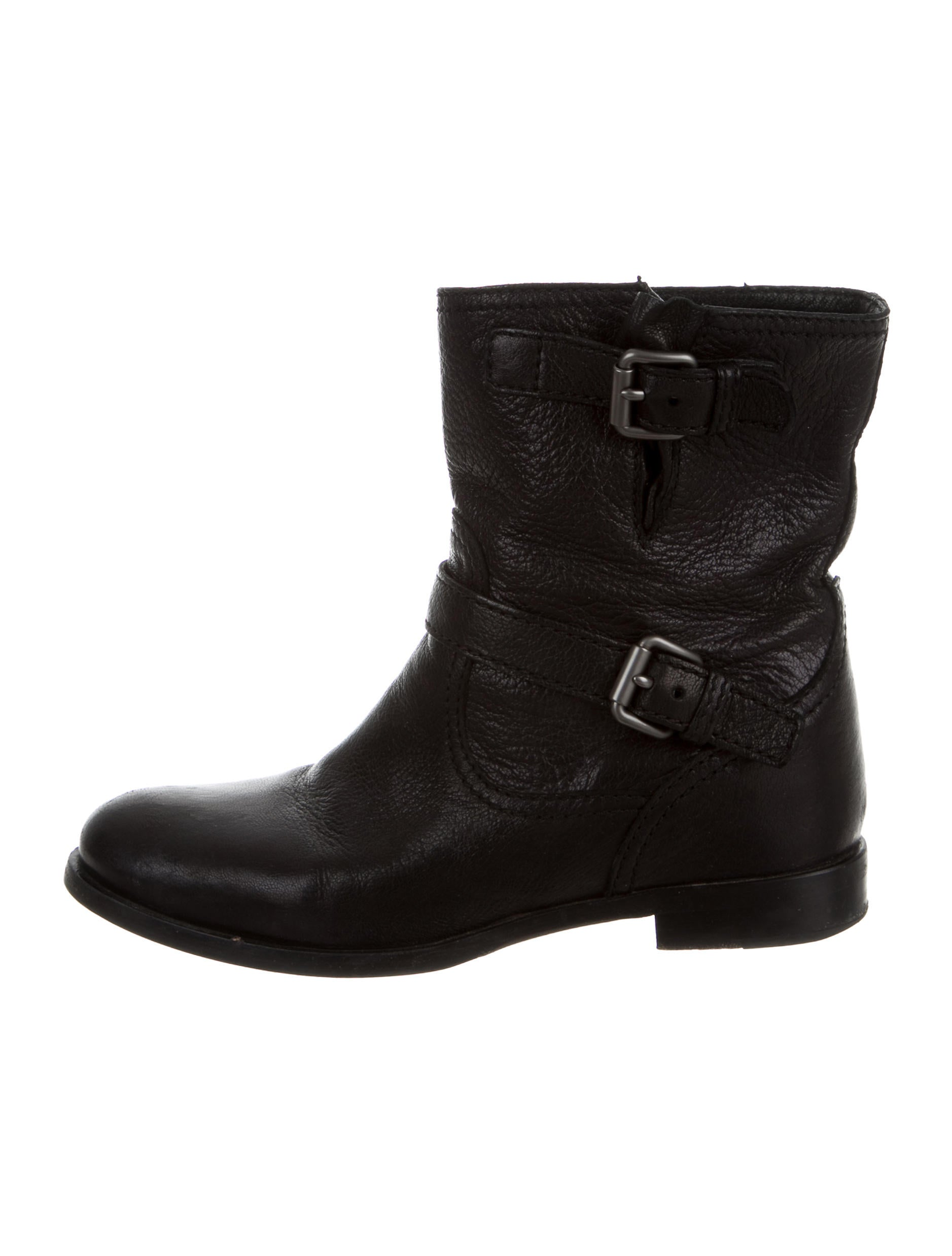 prada leather moto ankle boots shoes pra136264 the