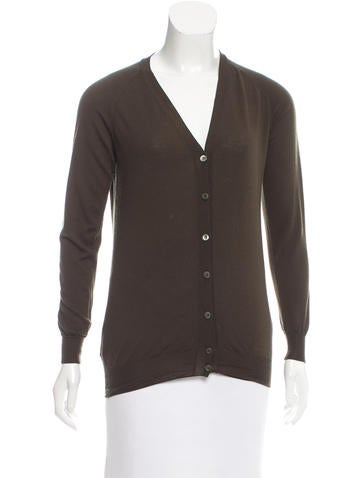 Prada Lightweight Wool Cardigan None