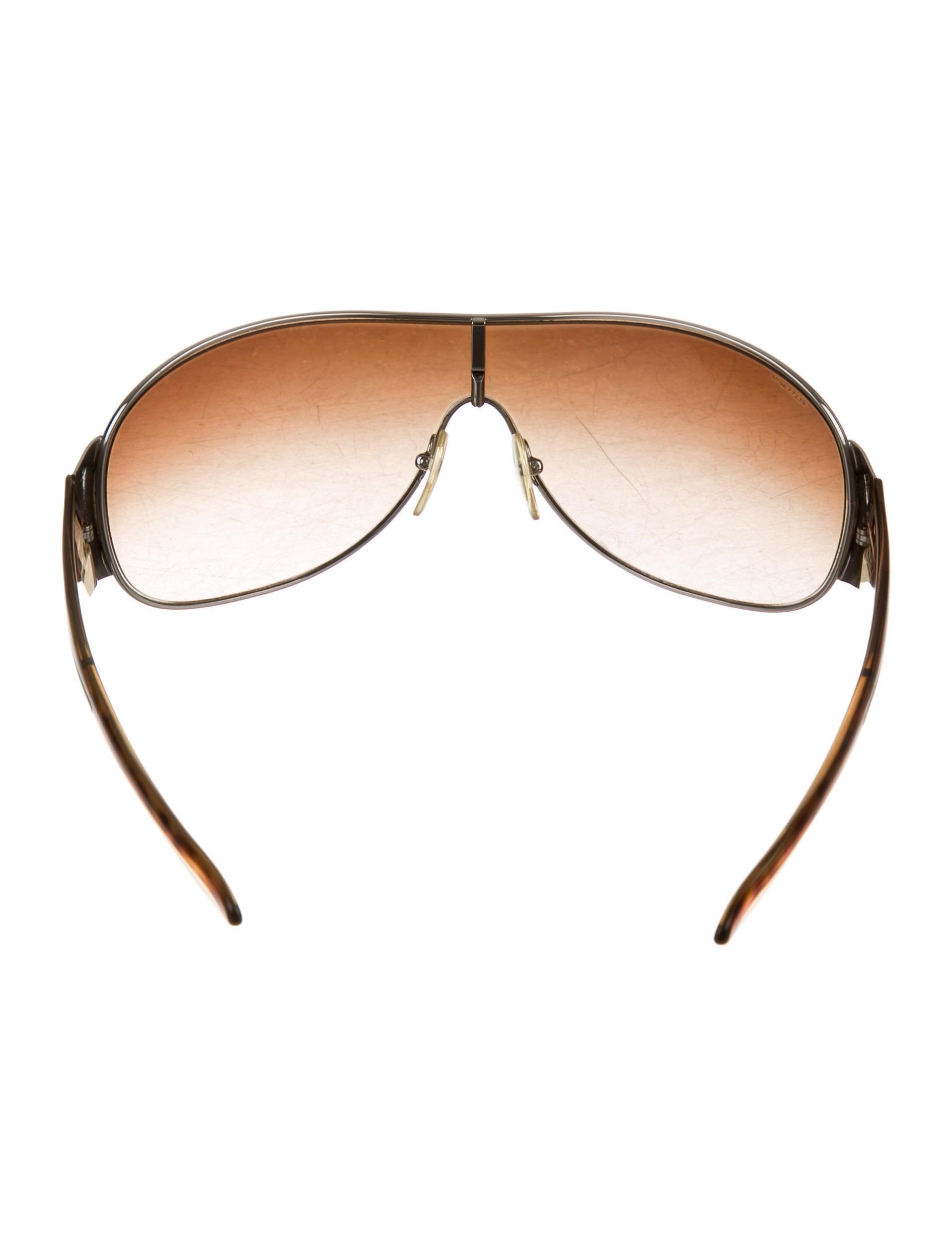 d17ccfd3f2 Prada Shield Sunglasses Deep Brown