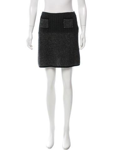 Prada Knit Mini Skirt None