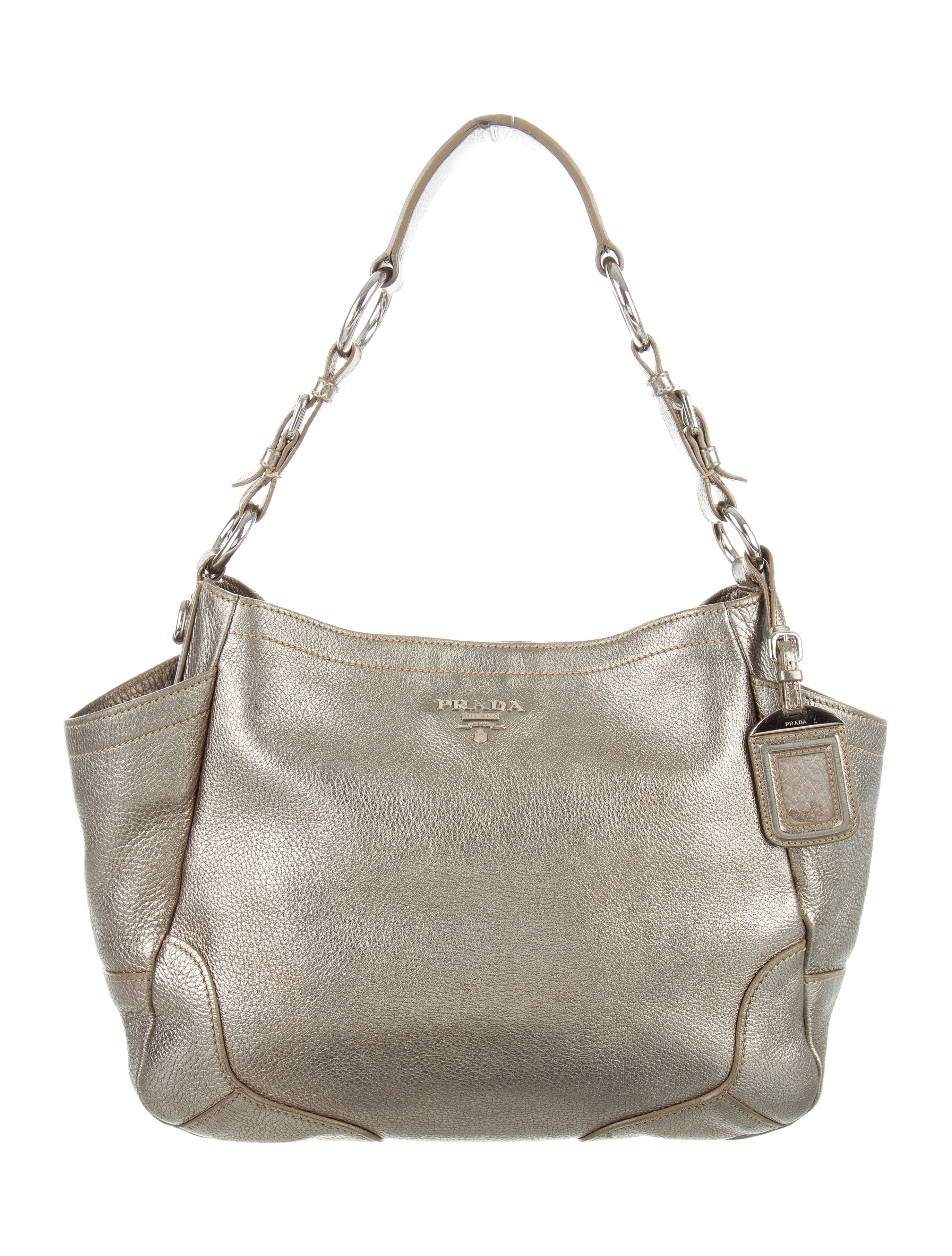 24faec485877e2 Prada Vitello Daino Side Pocket Hobo - Handbags - PRA137072 | The ...