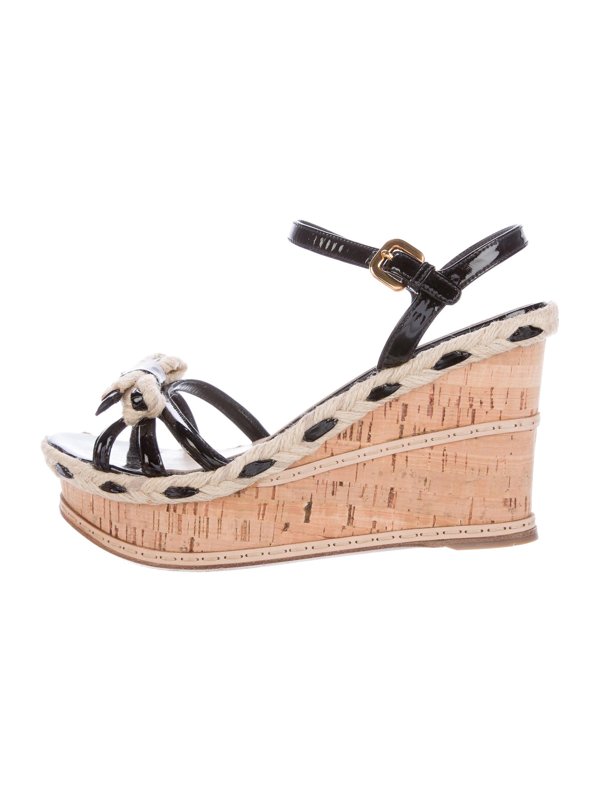 prada espadrille wedge sandals shoes pra137308 the