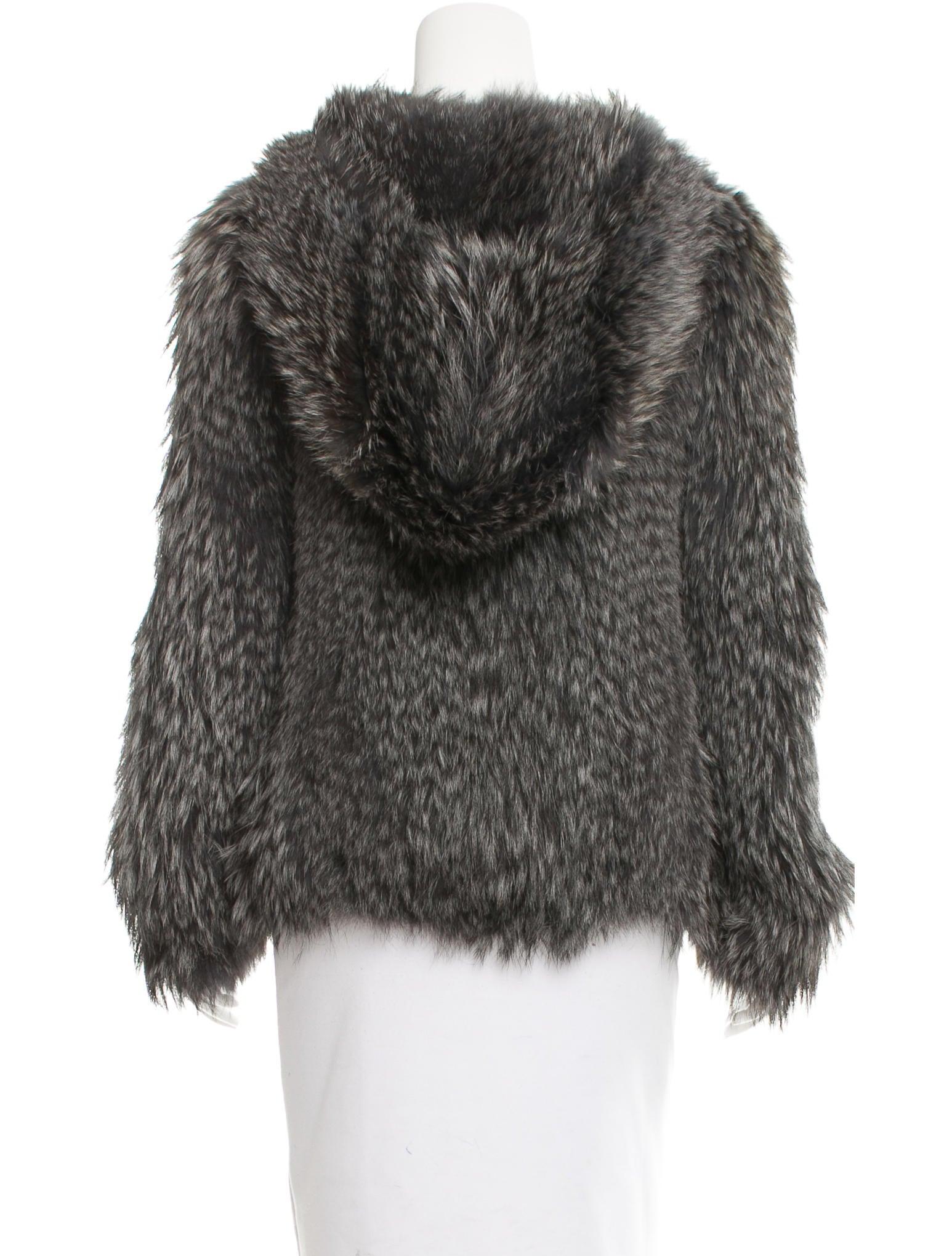 Prada Knitted Fox Fur Jacket - Clothing - PRA137570 The RealReal