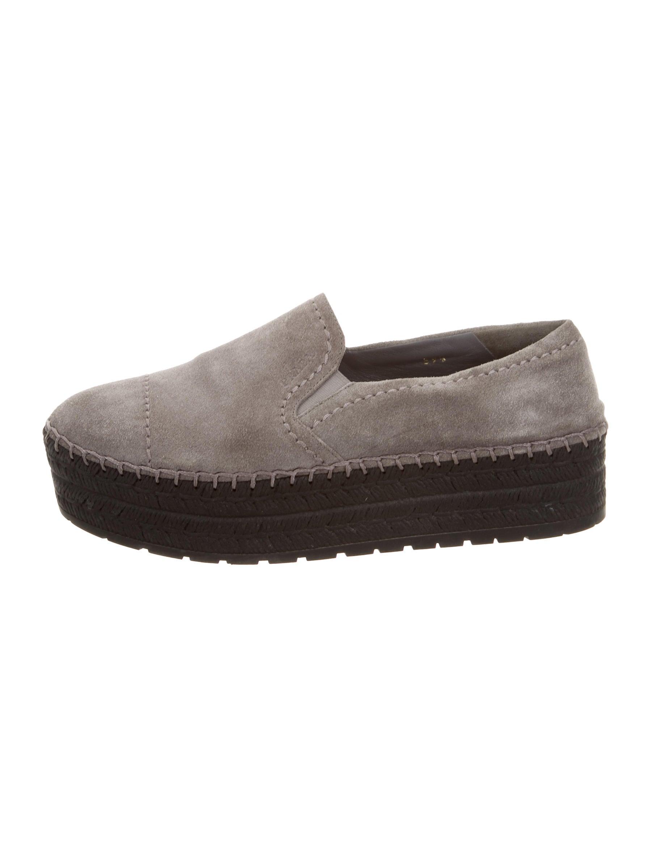 prada scamosciato slip on sneakers shoes pra137609