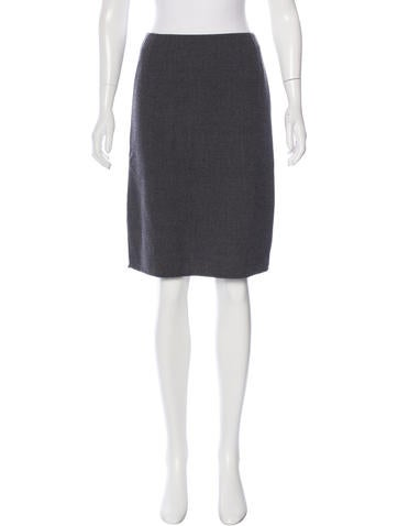 Prada Knit Pencil Skirt None