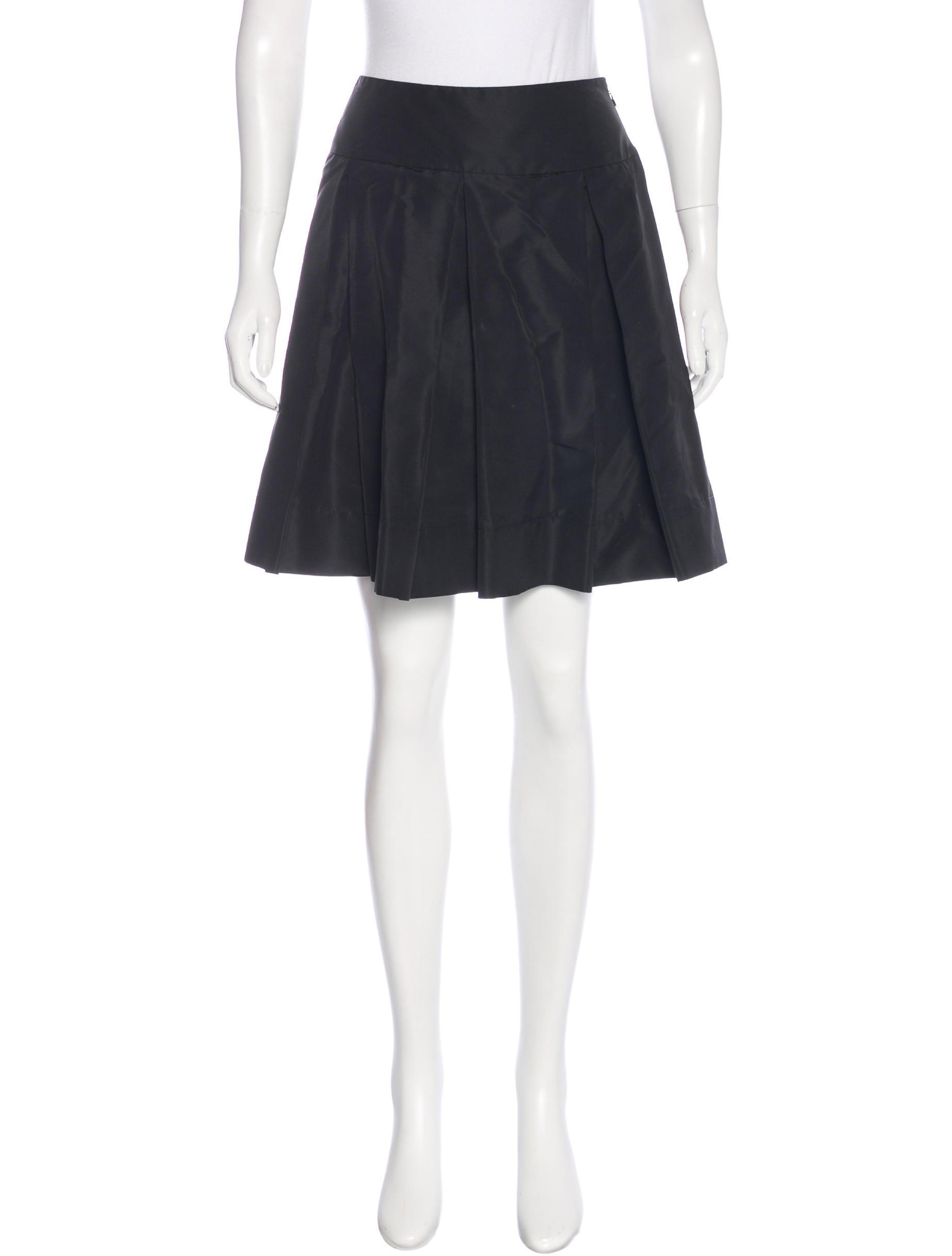 prada pleated flare skirt clothing pra138152 the