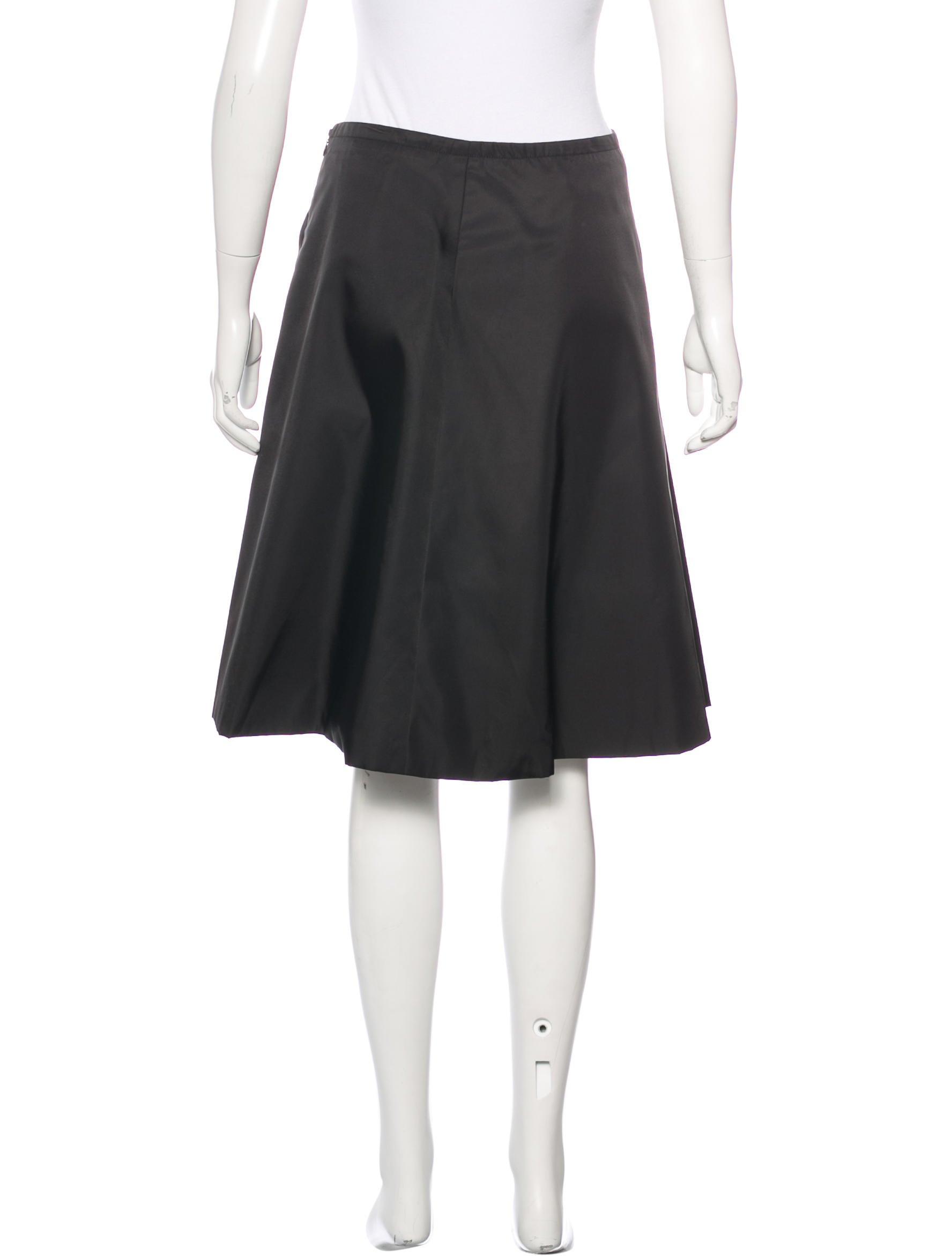 prada flared knee length skirt clothing pra138255