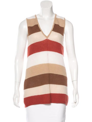 Prada Cashmere Striped Top None