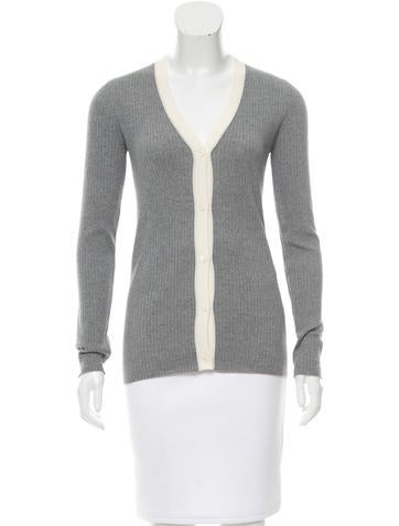 Prada Lightweight Rib Knit Cardigan None