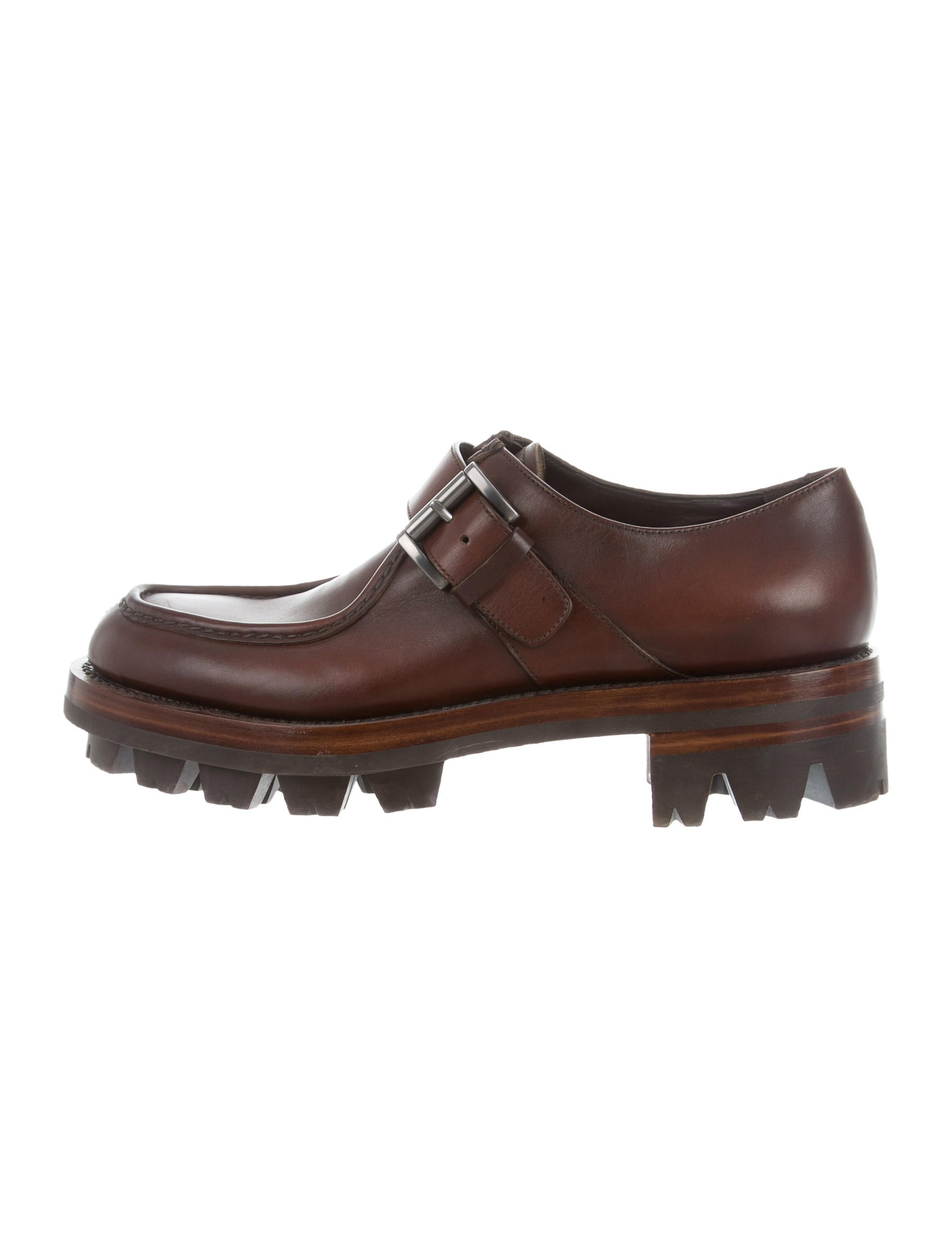prada leather derby shoes shoes pra139048 the realreal