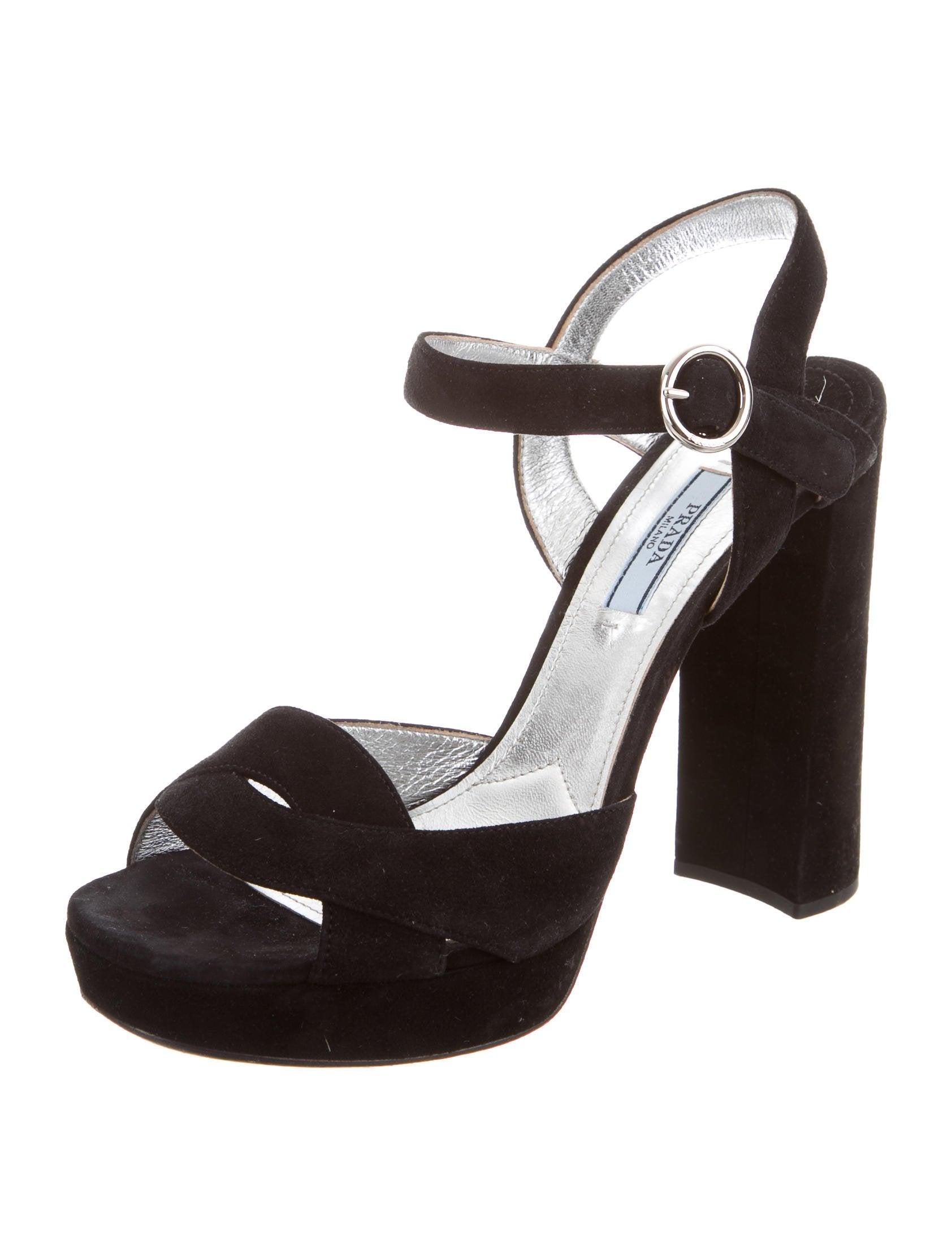 prada suede platform sandals shoes pra139266 the