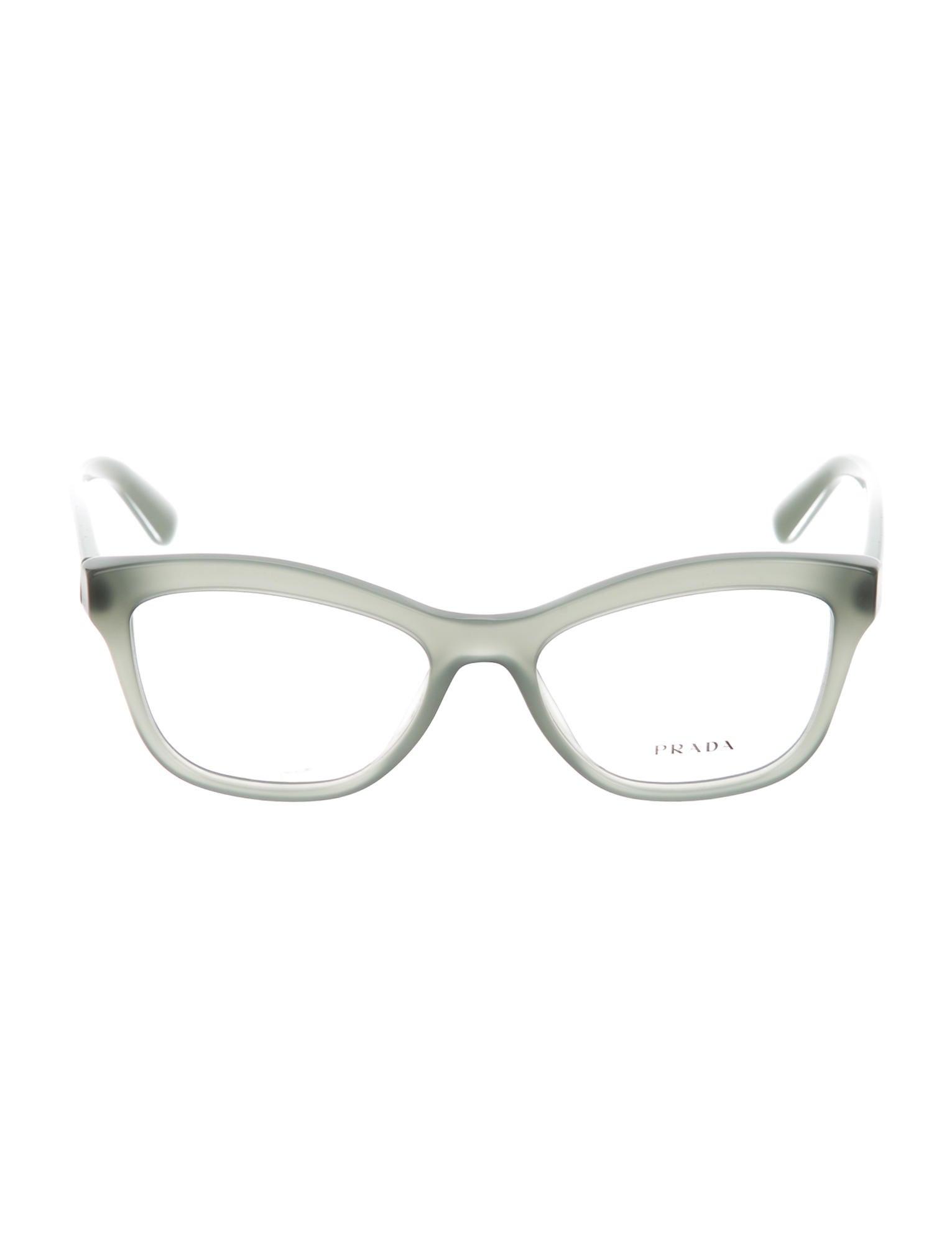 Prada Cat-Eye Logo Eyeglasses w/ Tags - Accessories ...