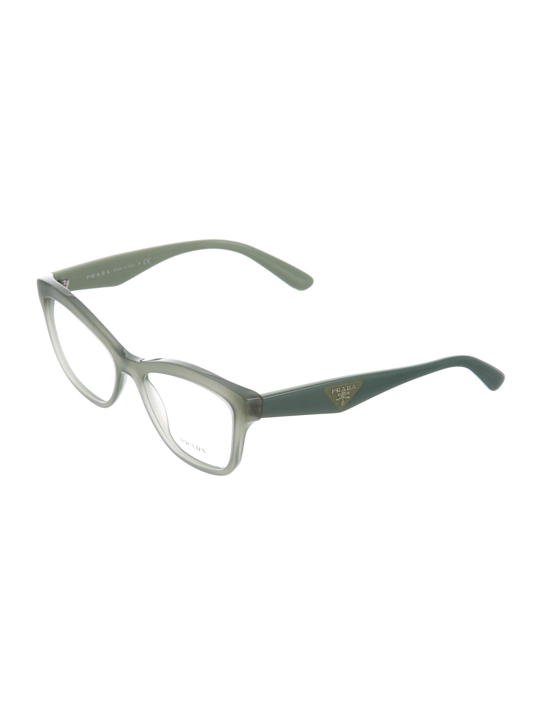 Prada Eyeglass Frames Cateye : Prada Cat-Eye Logo Eyeglasses w/ Tags - Accessories ...