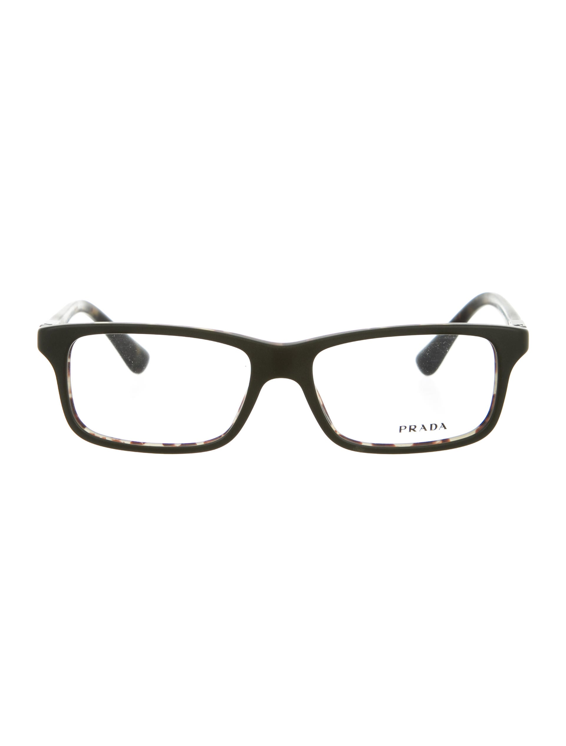 prada square logo eyeglasses w tags accessories