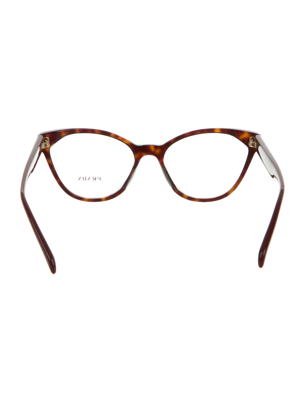 Prada Eyeglass Frames Cateye : Prada Logo Cat-Eye Eyeglasses w/ Tags - Accessories ...