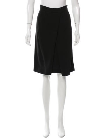 Prada Pleated Knee-Length Skirt None