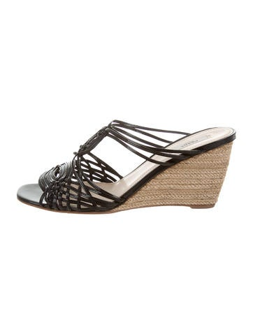 Prada Cage Espadrille Wedges None