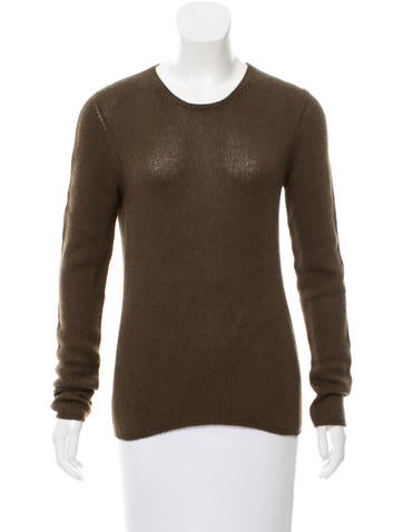 Prada Rib Knit Crew Neck Sweater None
