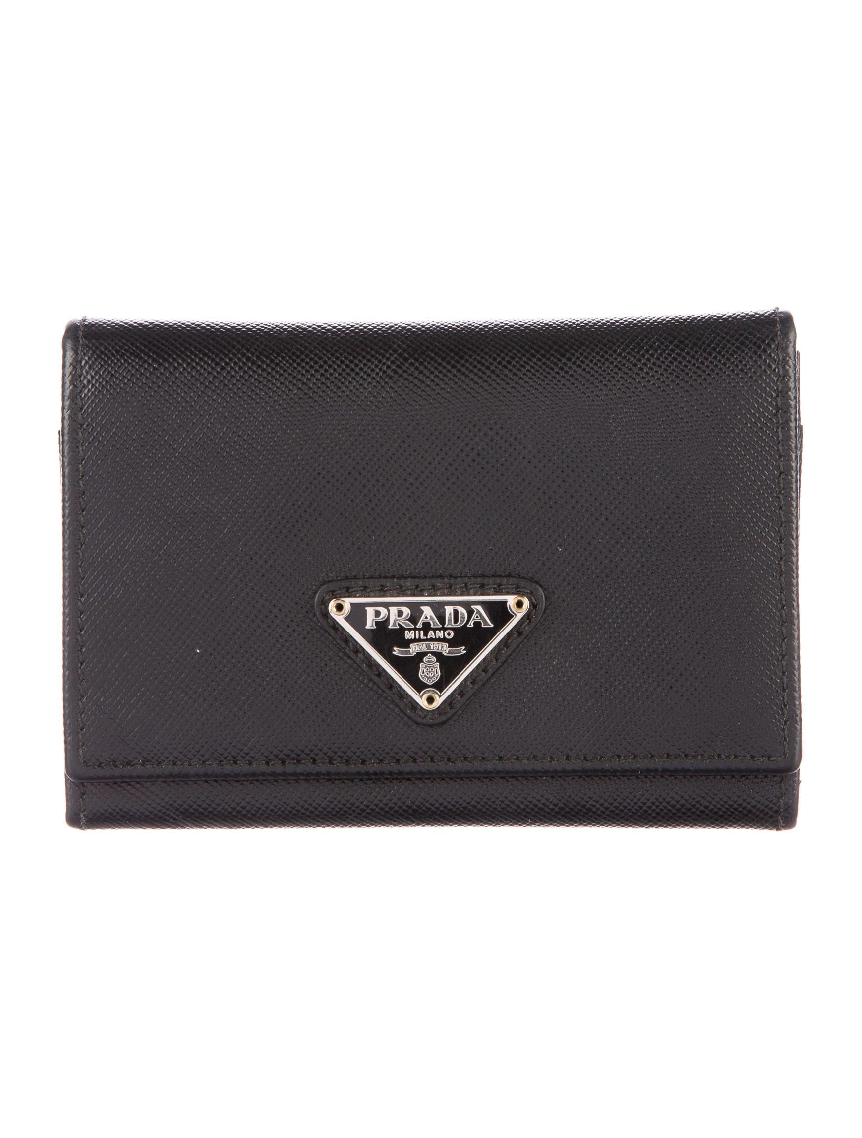 Prada Saffiano Business Card Holder - Accessories - PRA140336 | The ...