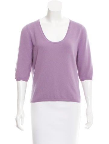 Prada Cashmere Three-Quarter Sleeve Top None