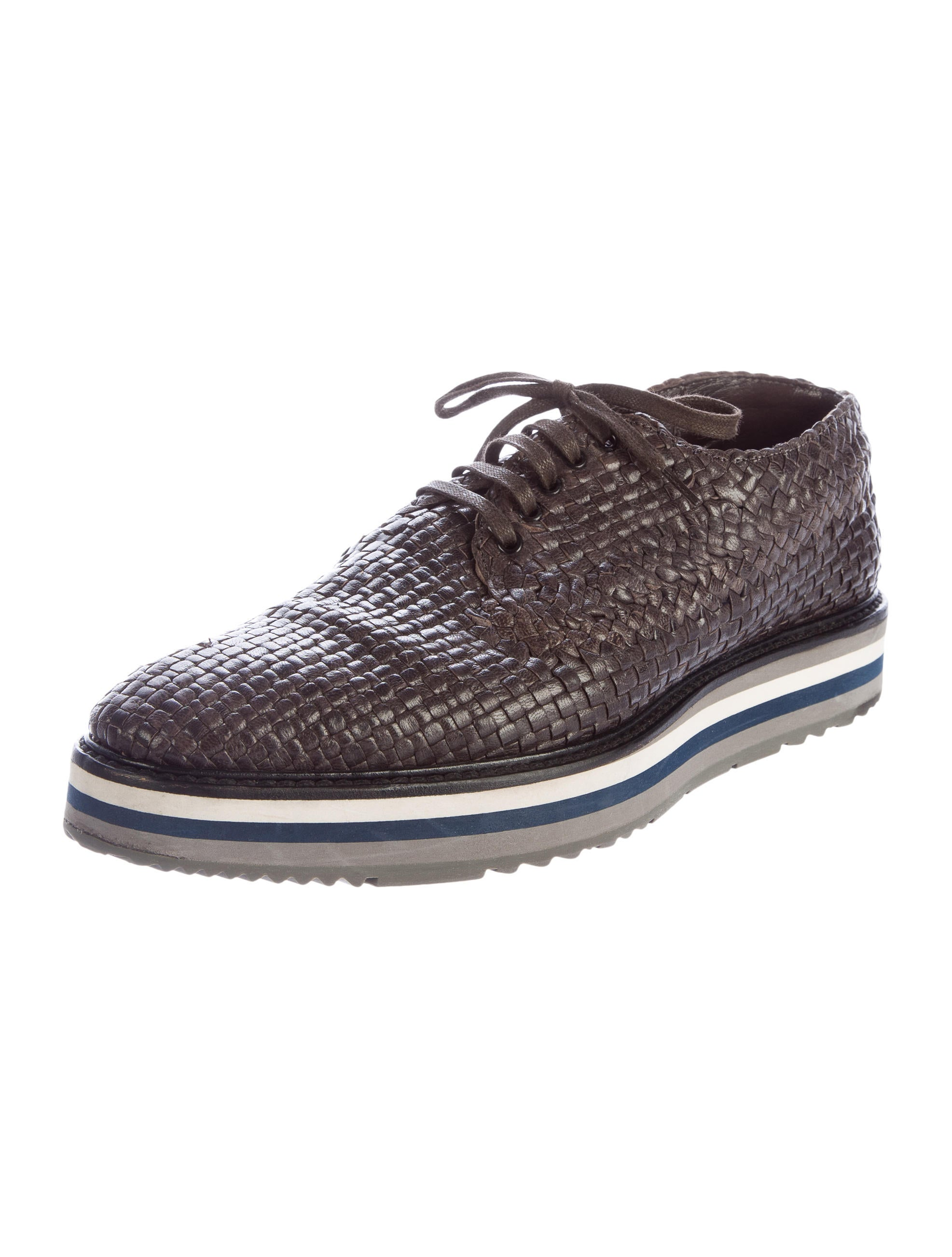 prada woven leather derby shoes shoes pra141003 the