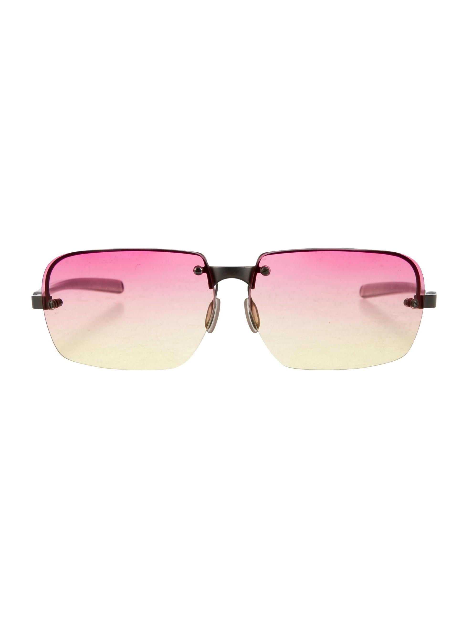 Rimless Glasses Look Good : Prada Rimless Logo Sunglasses - Accessories - PRA141202 ...