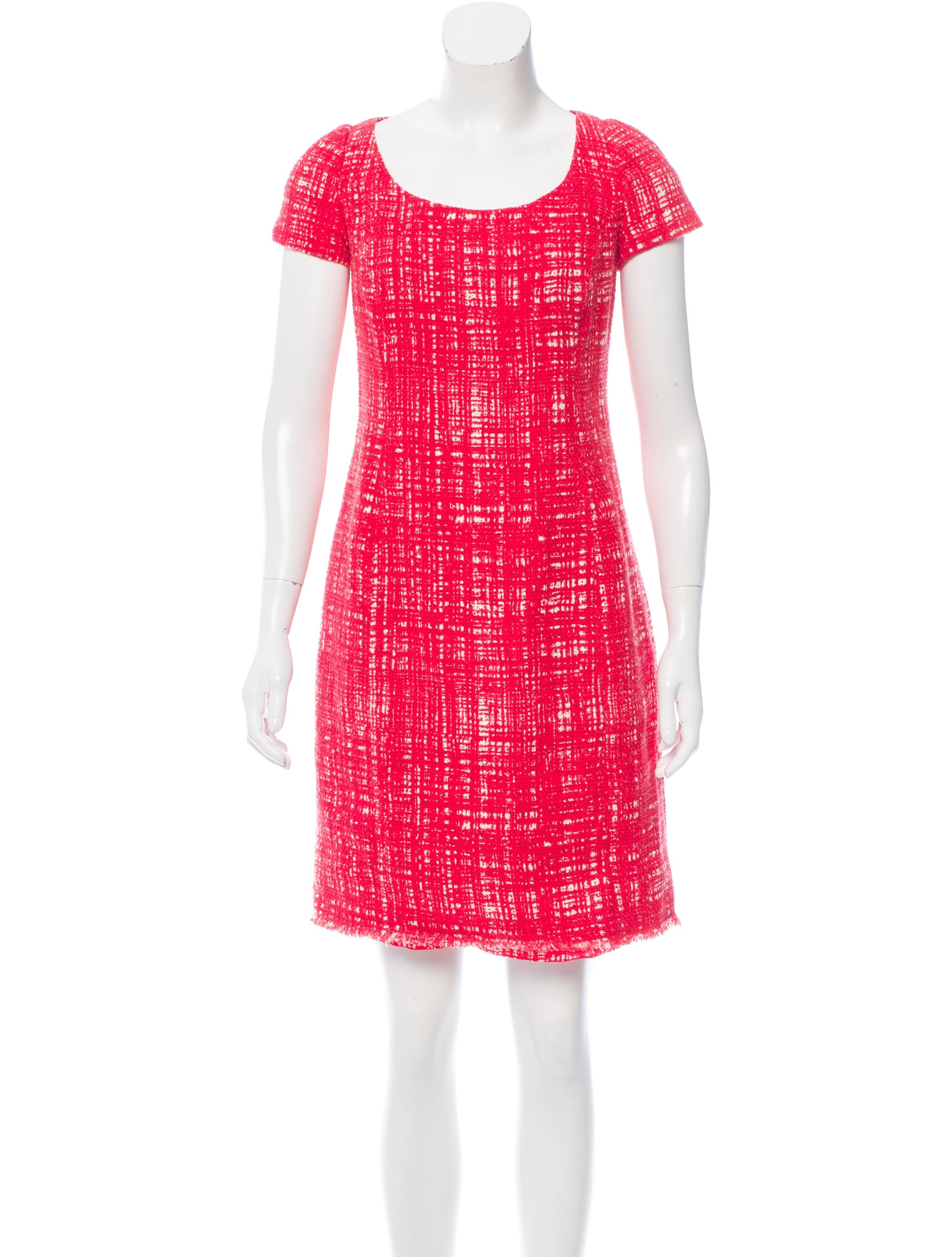 Prada raw edge tweed dress clothing pra141350 the for Raw edge t shirt women s