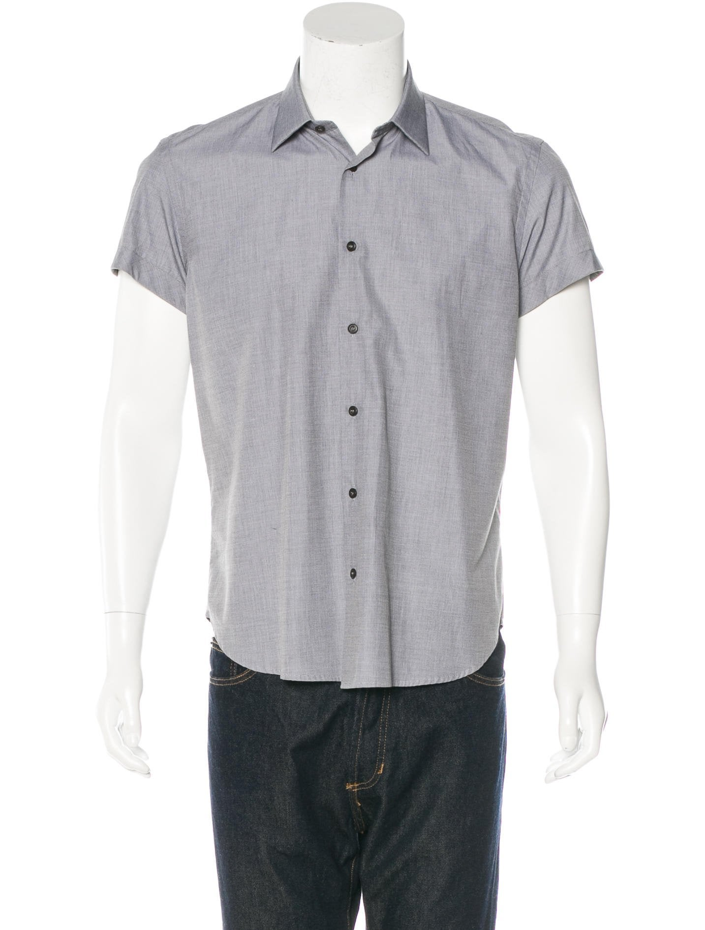 prada short sleeve woven shirt clothing pra141554