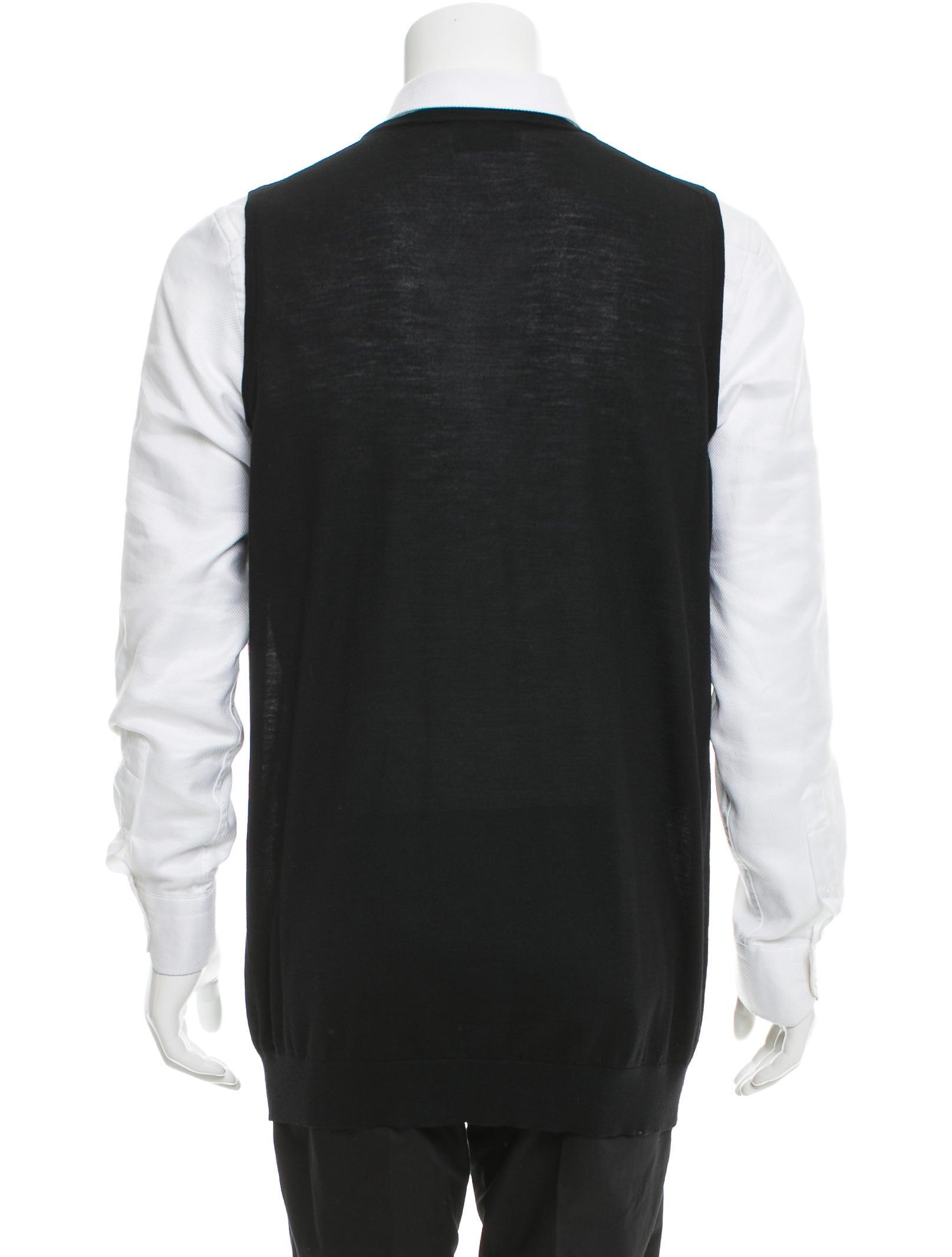 Prada Diamond Pattern Sweater Vest - Clothing - PRA141568 | The ...